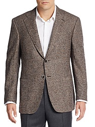 Canali Regular Fit Boucle Wool Blend Sportcoat Brown