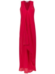 Mara Mac Silk Long Dress Red