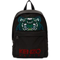 Kenzo Black Xl Tiger Backpack