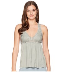 Eberjey Colette The Racerback Cami Thyme Clothing Green