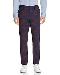Vince Palm Print Slim Fit Chino Pants 100 Exclusive Maroon Navy