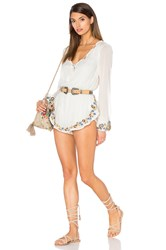 Band Of Gypsies Embroidered Romper White