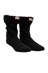 Hunter 6 Stitch Cable Boot Sock Black