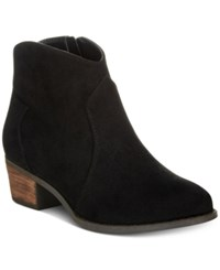Call It Spring Gwerraviel Faux Suede Ankle Booties Women's Shoes Black