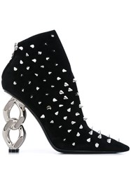 Balmain Studded Ankle Boots Black