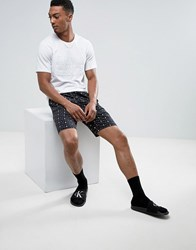 Calvin Klein Id Lounge Shorts With Logo Print Black