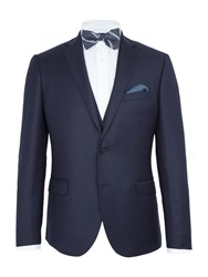 Paul Costelloe Burrell Basketweave Slim Suit Jacket Navy