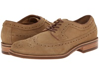 Trask Fiske Camel Water Resistant Suede Men's Lace Up Wing Tip Shoes Brown