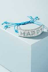 Anthropologie Beaded Friendship Bracelet Sky