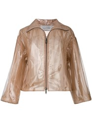 Valentino Transparent Rain Coat Nude And Neutrals