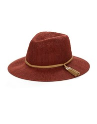 Collection 18 Tassel Accented Panama Hat Red