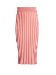 Altuzarra Diamon Ribbed Midi Skirt Light Pink