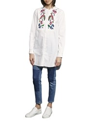 French Connection Rothko Cotton Long Sleeve Shirt Summer White Multi