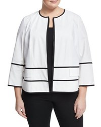 Lafayette 148 New York Aisha Zip Front Jacket White