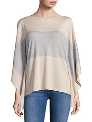 Leo And Sage Colorblock Silk Blend Poncho