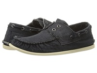 John Varvatos Schooner Boat Shoe Dusted Blue Men's Slip On Shoes