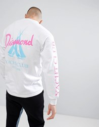 Diamond Supply Co. Voyage Long Sleeve T Shirt In White
