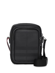 Burberry London Check And Leather Crossbody Bag Black