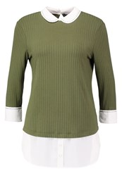 Dorothy Perkins Long Sleeved Top Green