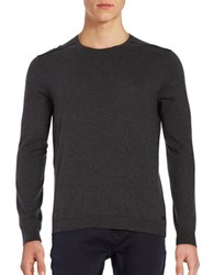 John Varvatos Long Sleeve Cotton Pullover Charcoal