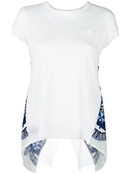 Sacai Tribal Lace Open Back T Shirt White