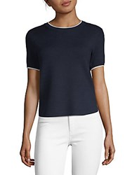 Saks Fifth Avenue Tipped Knit T Shirt Night