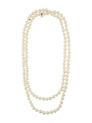 Chanel Vintage Faux Pearl Sautoir Necklace White