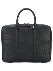 Paul Smith Embossed Laptop Bag Men Leather One Size Black