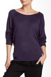 Splendid Scoop Neck Pullover Sweater Purple