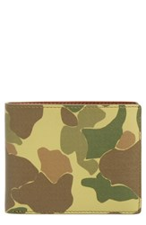Rag And Bone Hampshire Leather Bifold Wallet Green Camo