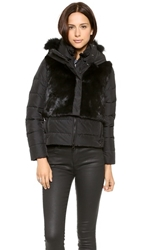 Add Down Down Jacket With Fur Vest Black