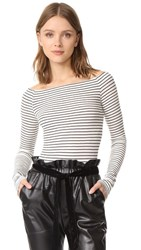 Getting Back To Square One Off Shoulder Top Black Vanilla Ice Stripe
