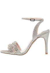 Faith Dash High Heeled Sandals Silver