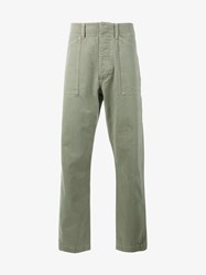 Wtaps Cotton Wide Leg Trousers Olive White