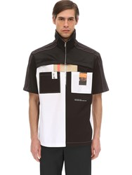 Burberry Tech Cotton Jersey Oxford Shirt Black