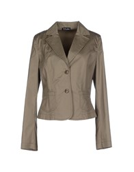 Ter De Caractere Suits And Jackets Blazers Women Military Green