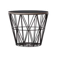 Ferm Living Medium Wire Basket Black With Lid
