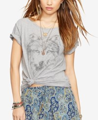 Denim And Supply Ralph Lauren Dream Catcher Draped Tee Vintage Grey Heather