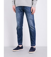 Stella Mccartney Tapered Mid Rise Jeans Blue Navy