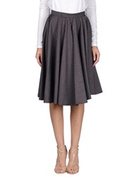 Trou Aux Biches Knee Length Skirts Maroon