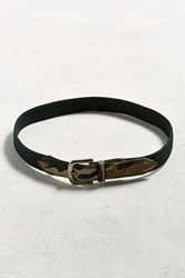 Urban Outfitters Uo Stretch Cord Camo Belt Green