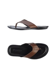 Doucal's Thong Sandals Black