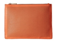 Mighty Purse Vegan Leather Three Tone Charging Clutch Orange Grey White Fold Clutch Handbags