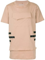 Matthew Miller Layered Hem T Shirt Nude And Neutrals