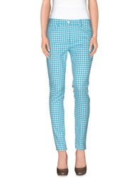 Versace Trousers Casual Trousers Women Turquoise