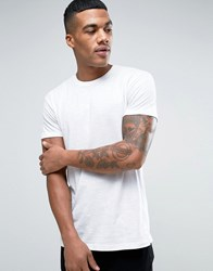 Solid T Shirt In White