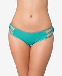 O'neill Malibu Solids Macrame Cheeky Bikini Bottoms Women's Swimsuit Aloe