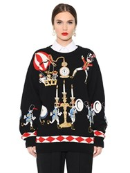 Dolce And Gabbana Embellished Intarsia Cashmere Sweater