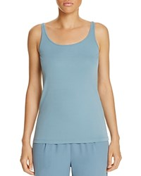 Eileen Fisher Scoop Neck Silk Knit Tank Blue Steel