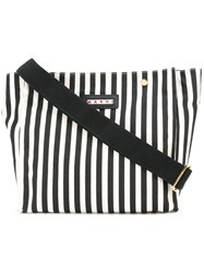 Marni Striped Shopper Tote Black